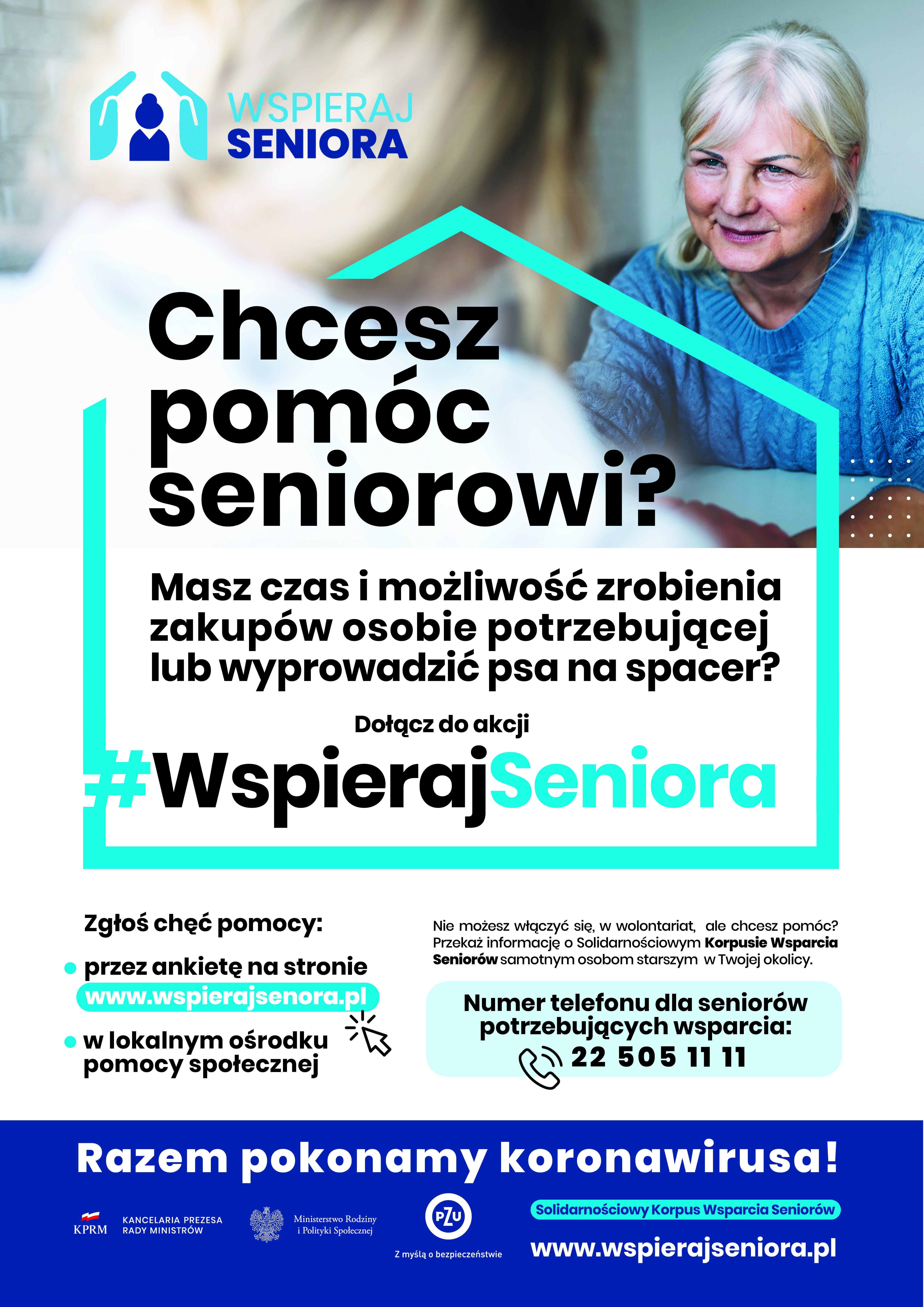 """Ilustracja do informacji: Solidarnościowy Korpus Wsparcia Seniorów - Program """"Wspieraj Seniora"""" w Gminie Zbąszynek"""