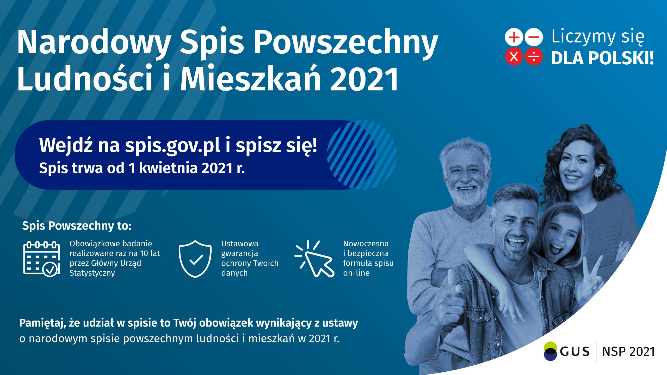 Ilustracja do informacji: NARODOWY SPIS POWSZECHNY LUDNOŚCI I MIESZKAŃ 2021